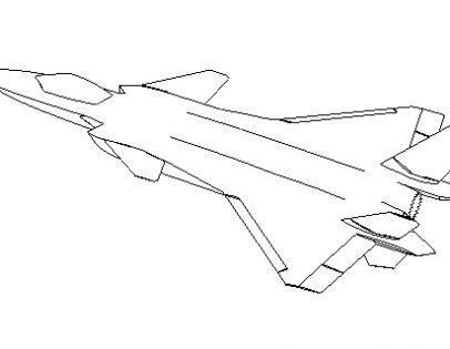 升力体边条翼鸭式布局飞机